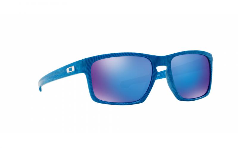 Oakley Sliver Fingerprint Collection - Sky Blue / Sapphire Iridum - OO9262-17 Zonnebril