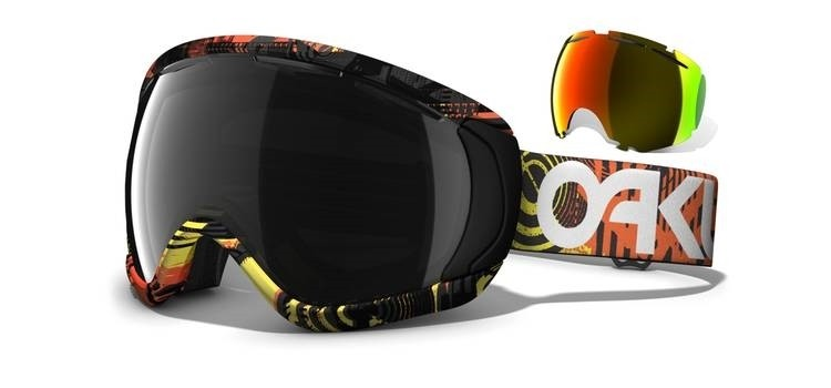 Oakley Canopy - Factory Pilot Fear Lt / Dark Grey & Fire Iridium - 59-134 Skibril
