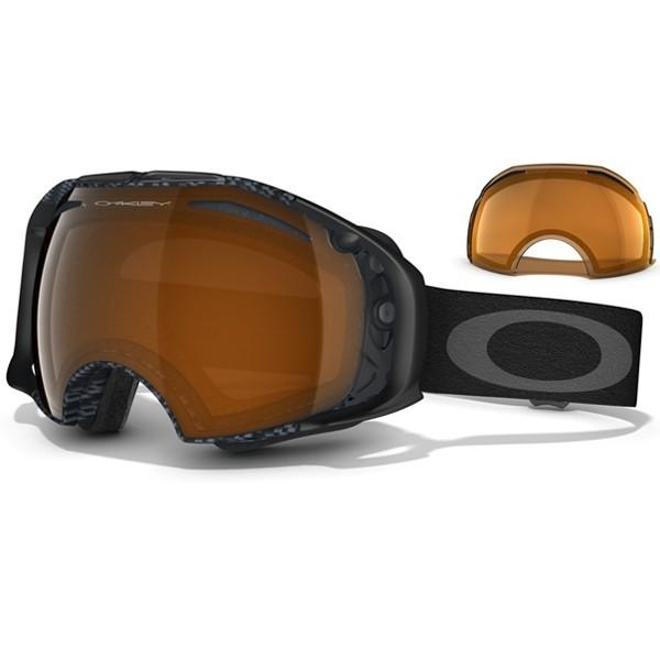 Oakley Airbrake - Matte Carbon Fiber / Black Iridium & Persimmon -  59-121 Skibril