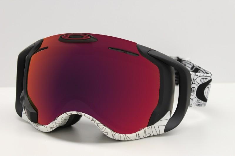 Oakley Airwave 1.5 Silver Factory Text White  / Prizm Snow Torch Iridium - Skibril met Pisteplan!