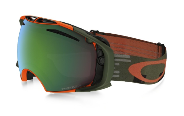 Oakley Airbrake (Asian Fit) Disruptive Olive Orange - Prizm Snow Jade Iridium & Persimmon - OO7037-20 Skibril