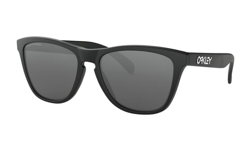 Oakley Frogskins Matte Black + Black Iridium Polarized 24-297