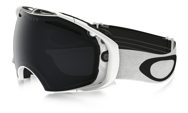 Oakley Airbrake - Polished White / Dark Grey & Persimmon - OO7037-49 Skibril