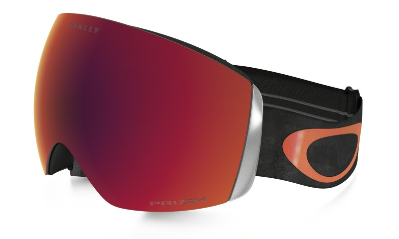 Oakley Flight Deck - Snow Camo Orange / Prizm Torch - Skibril OO7050-24