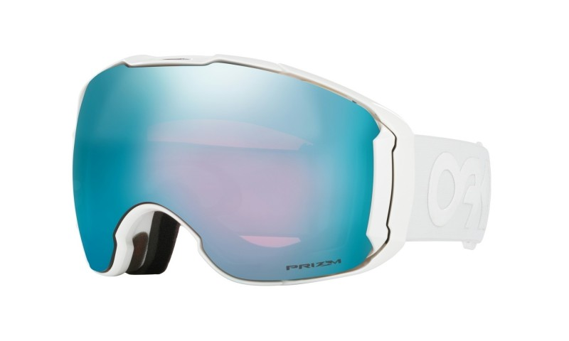 Oakley Airbrake XL Factory Pilot Whiteout / Prizm Snow Sapphire Iridium & Prizm High Intensity Pink Iridium OO7071-10 SkibrilOakley Airbrake XL - Factory Pilot Whiteout / Prizm Snow Sapphire Iridium + Prizm Hi Pink - OO7071-10 Skibril