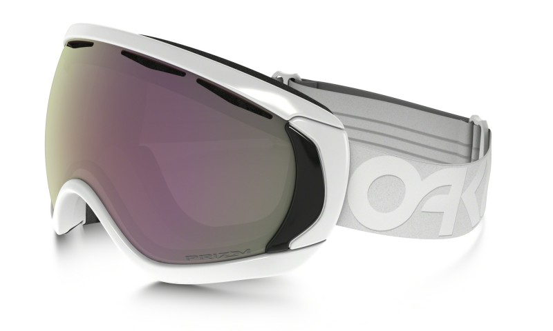 Oakley Canopy (Asian Fit) Factory Pilot Whiteout / Prizm Snow HI Pink Iridium - OO7081-04 Skibril