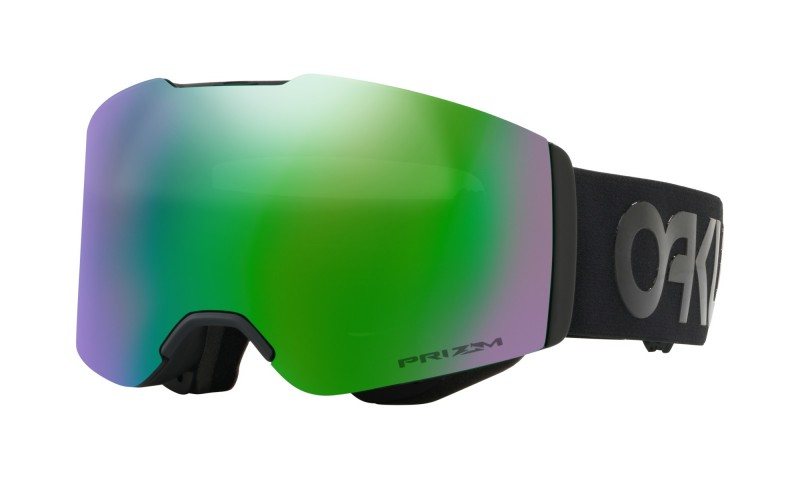 Oakley Fall Line Factory Pilot Blackout / Prizm Snow Jade Iridium OO7085-13 Skibril