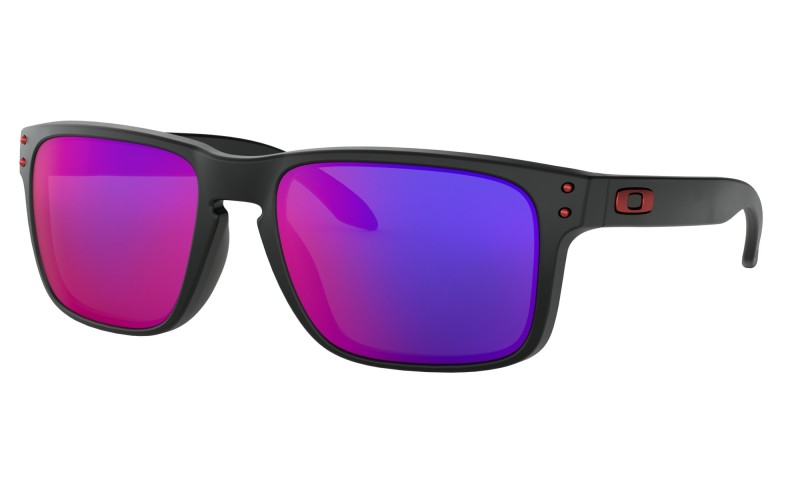 Oakley Holbrook Matte Black + +Red Iridium OO9102-36