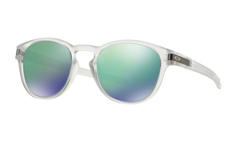 Oakley Latch - Matte Clear / Jade Iridium - OO9265-13 Zonnebril