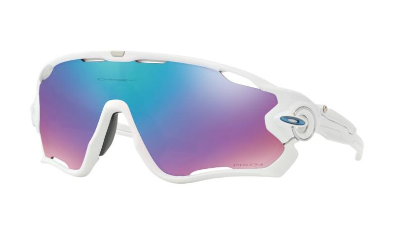Oakley Jawbreaker Polished White / Prizm Sapphire Snow - OO9290-2132 Zonnebril