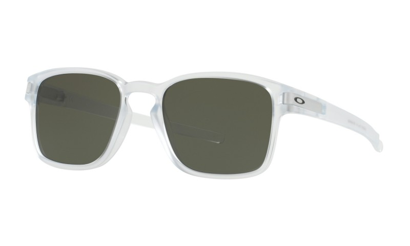 Oakley Latch Sq - Matte Clear / Dark Grey - OO9353-07 Zonnebril