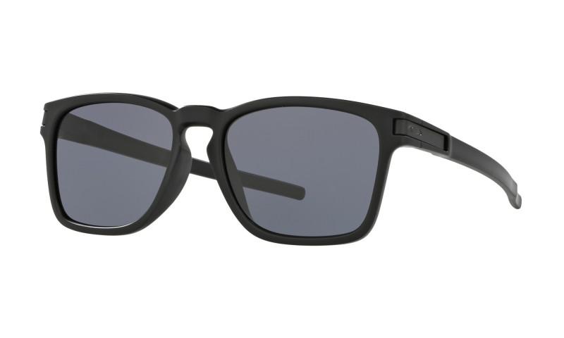 Oakley Latch Sq (Asian Fit) Matte Black / Grey - OO9358-01 Zonnebril