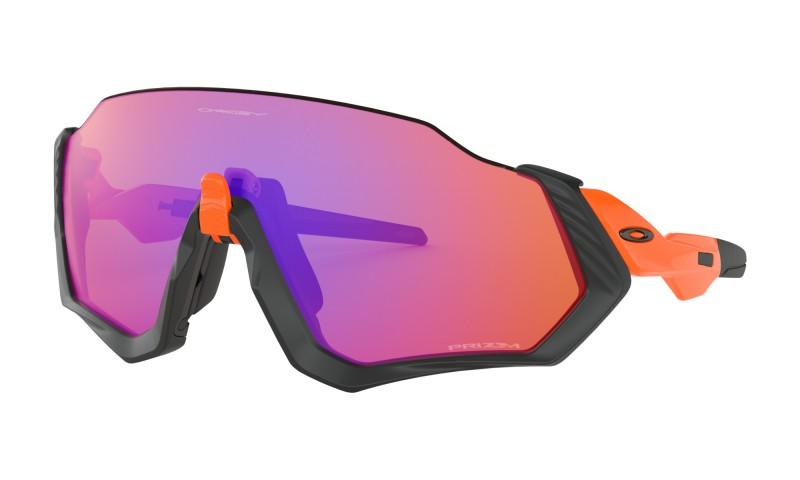 Oakley Flight Jacket Matte Black/Neon Orange / Prizm Trail - OO9401-0437