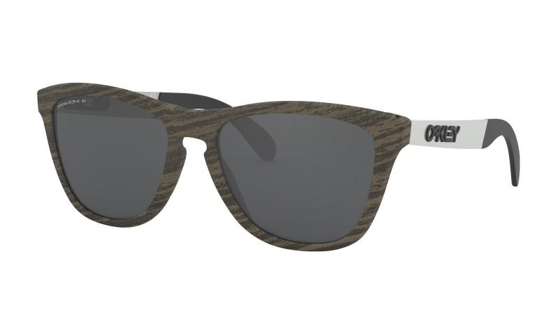 Oakley Frogskins Mix Woodgrain + Prizm Black Polarized - OO9428-0755
