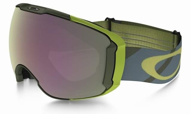 Oakley Airbrake XL (Asian Fit) Hazard Army Iron / Prizm Snow HI Pink Iridium & Persimmon - OO7078-09 Skibril