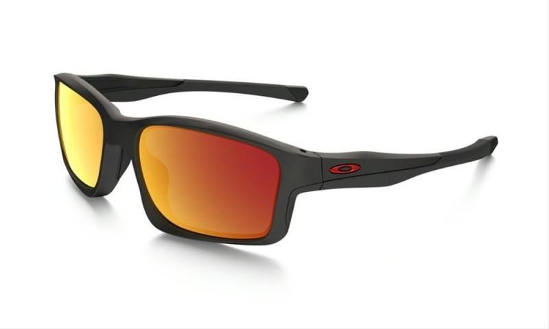 Oakley Chainlink (Asian Fit) Matte Black / Ruby Iridium - OO9252-09 Zonnebril