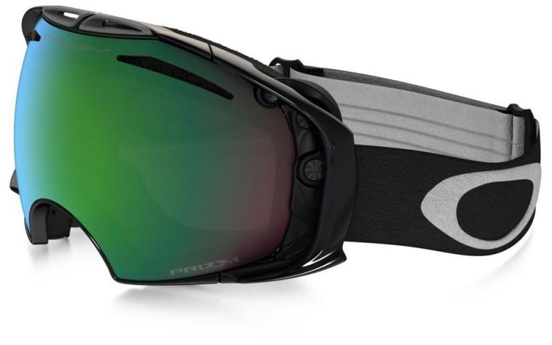 Oakley Airbrake - Jet Black / Prizm Snow Jade Iridium & Dark Grey - OO7037-31 Skibril