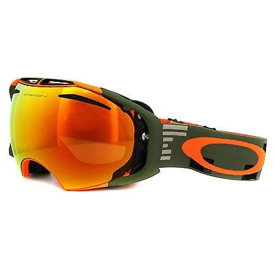 Oakley Airbrake - Disruptive Olive Orange / Fire Iridium & Persimmon - OO7037-09 Skibril