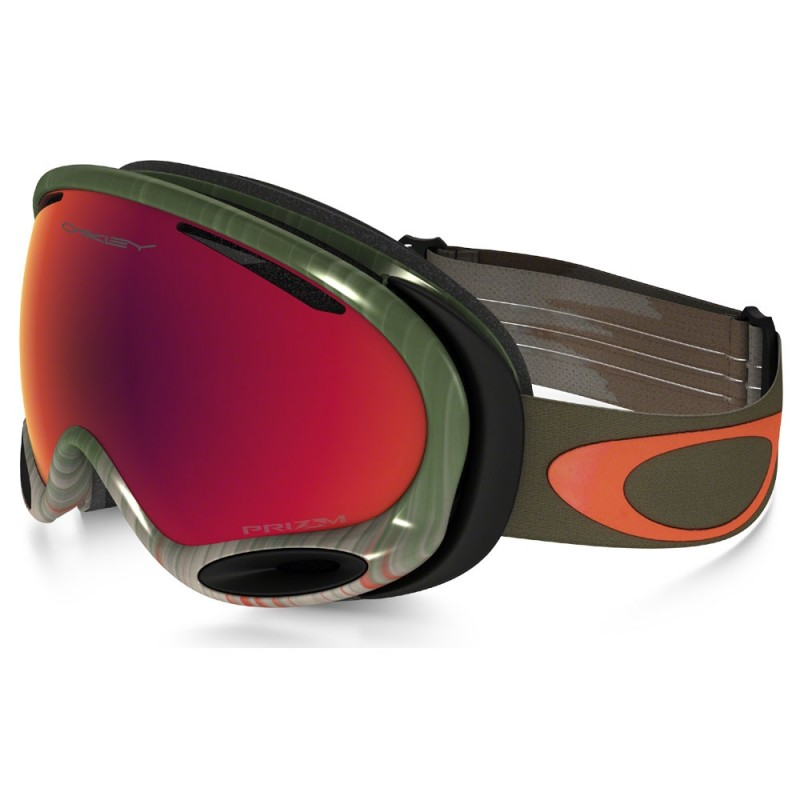 Oakley A Frame 2.0 Wet/Dry Olive/Orange / Prizm Snow Torch Iridium - OO7044-42 Skibril
