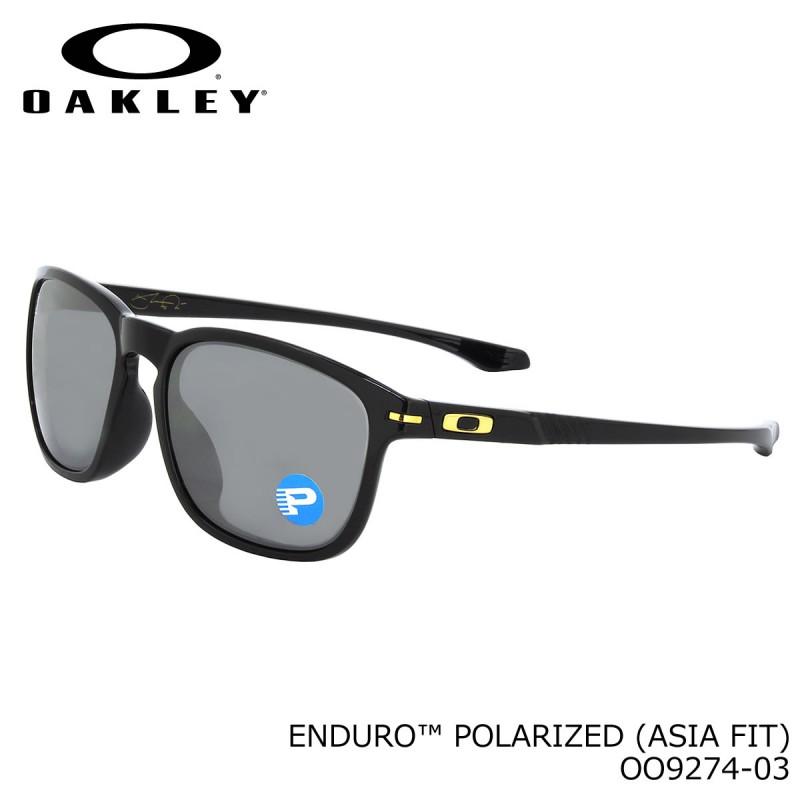 Oakley Enduro (Asian Fit) Shaun White Polished Black + Black Iridium Polarized OO9274-03