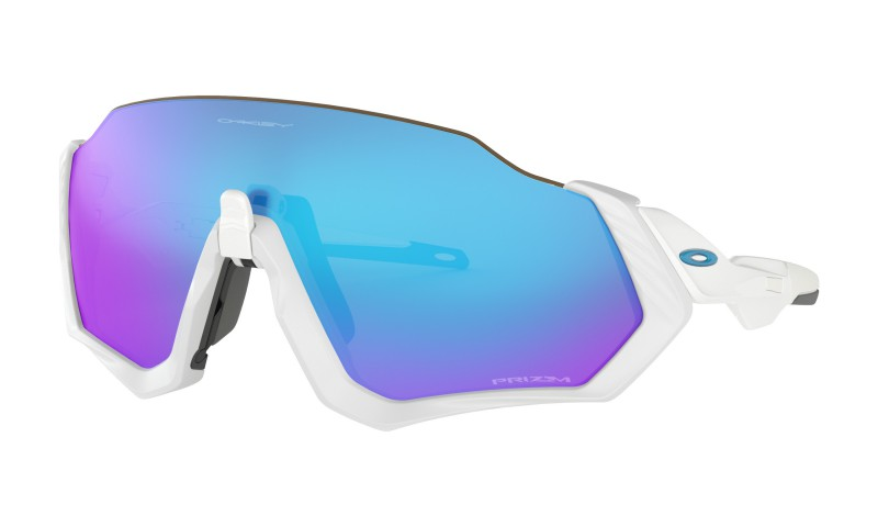 Oakley Flight Jacket Polished White Prizm Sapphire