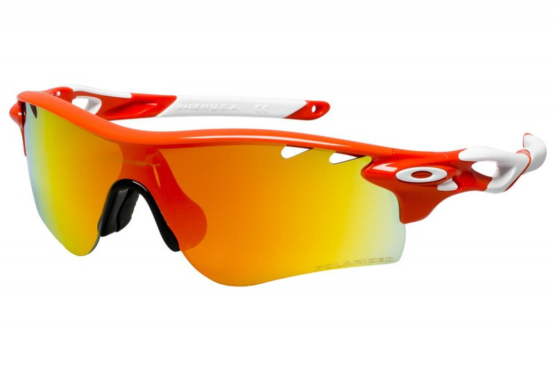 Oakley Radarlock Path Blood Orange + Fire Iridium Polarized Vented & Black Iridium Vented OO9181-24 Zonnebril
