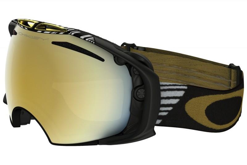 Oakley Airbrake Shaun White Signature Series Black Gold - 24K Iridium & Persimmon OO7037-04 Skibril