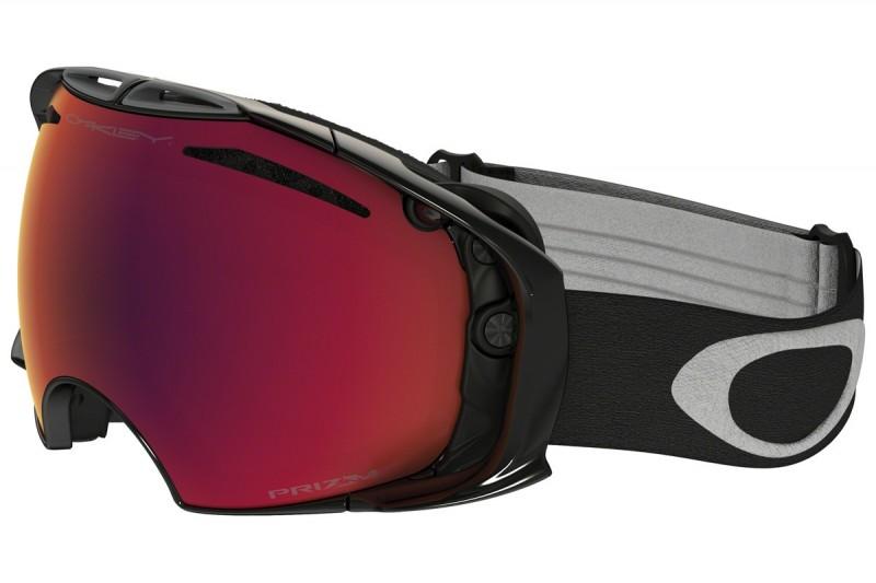 Oakley Airbrake - Jet Black / Prizm Snow Torch Iridium & Prizm Snow Sapphire Iridium - OO7037-40 Skibril