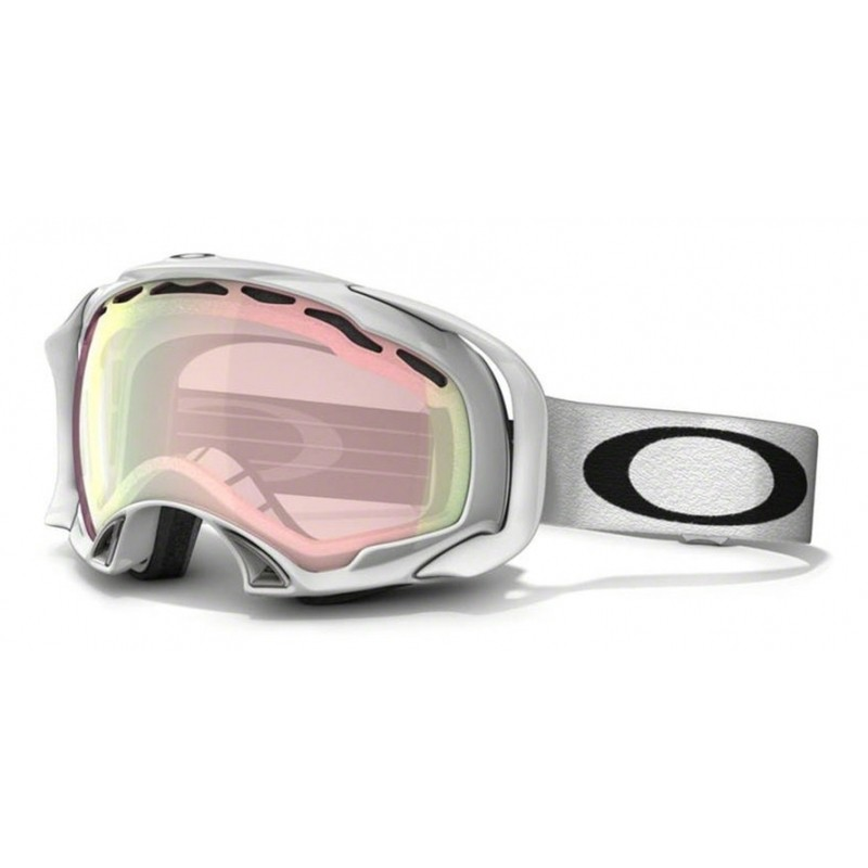Oakley Splice - Polished White / VR50 Pink Iridium - 57-248 Skibril