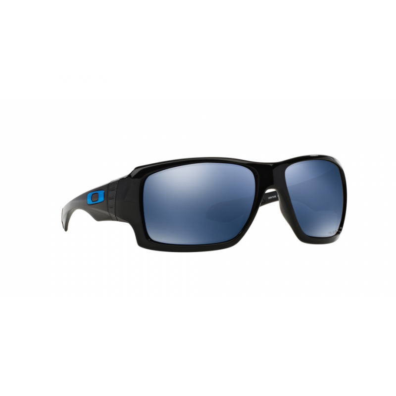 Oakley Big Taco - Polished Black / Ice Iridium Polarized - OO9173-06 Zonnebril