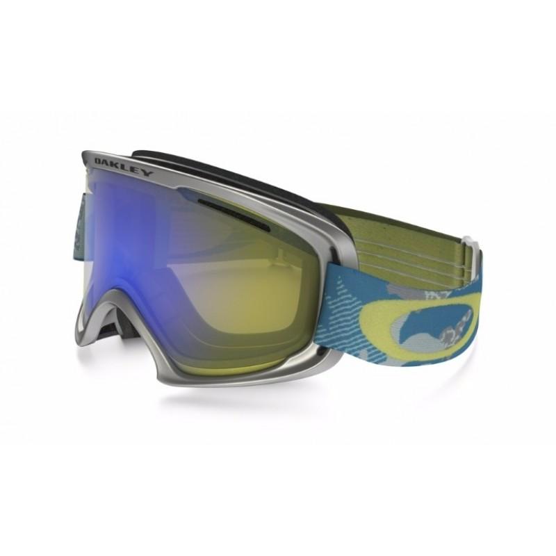 Oakley O2 XM - GI Camo Aurora Blue White / HI Yellow Iridium - OO7066-40 Skibril