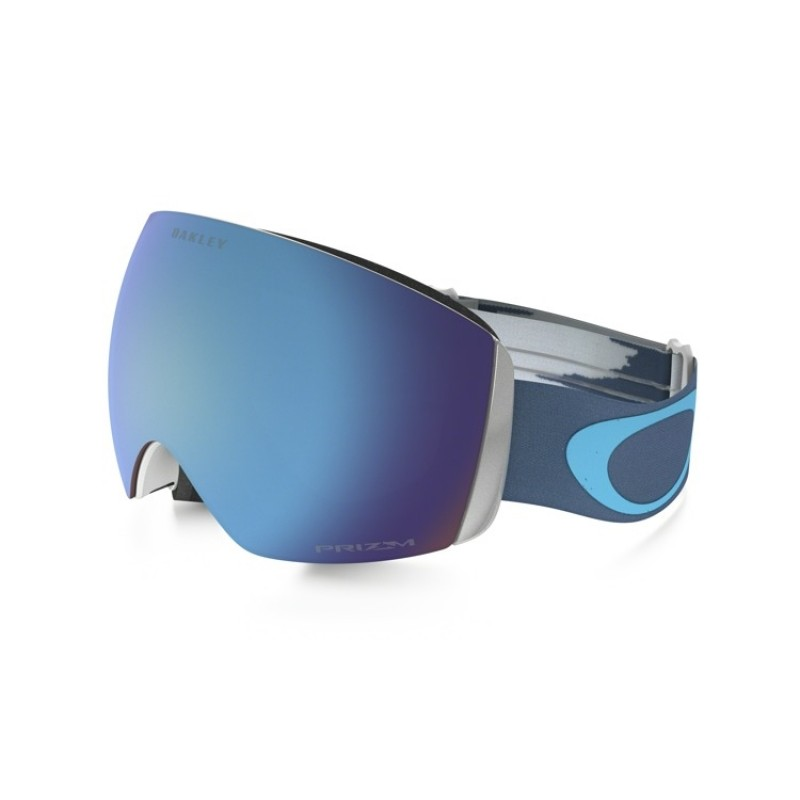 Oakley Flight Deck XM - Wet Dry Green Blue / Prizm Snow Sappire Iridium OO7064-55 Skibril