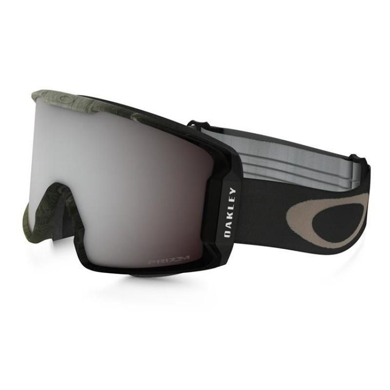 Oakley Line Miner - Obsessive Lines Green / Prizm Snow Black Iridium - OO7070-26 Skibril
