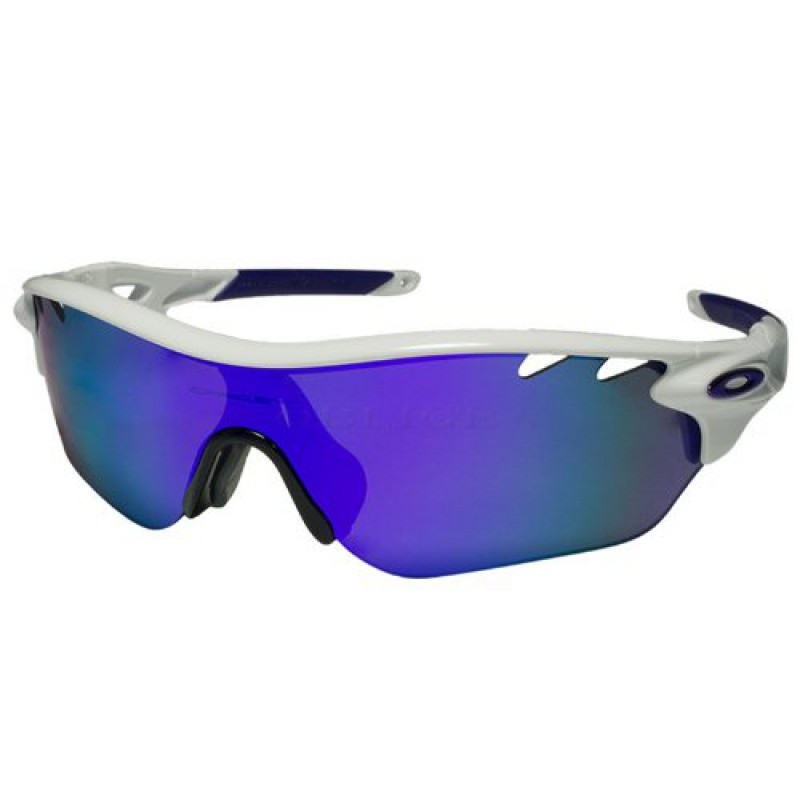 Oakley Radarlock Edge (Asian Fit) Polished White + Violet Iridium OO9209-01 Zonnebril
