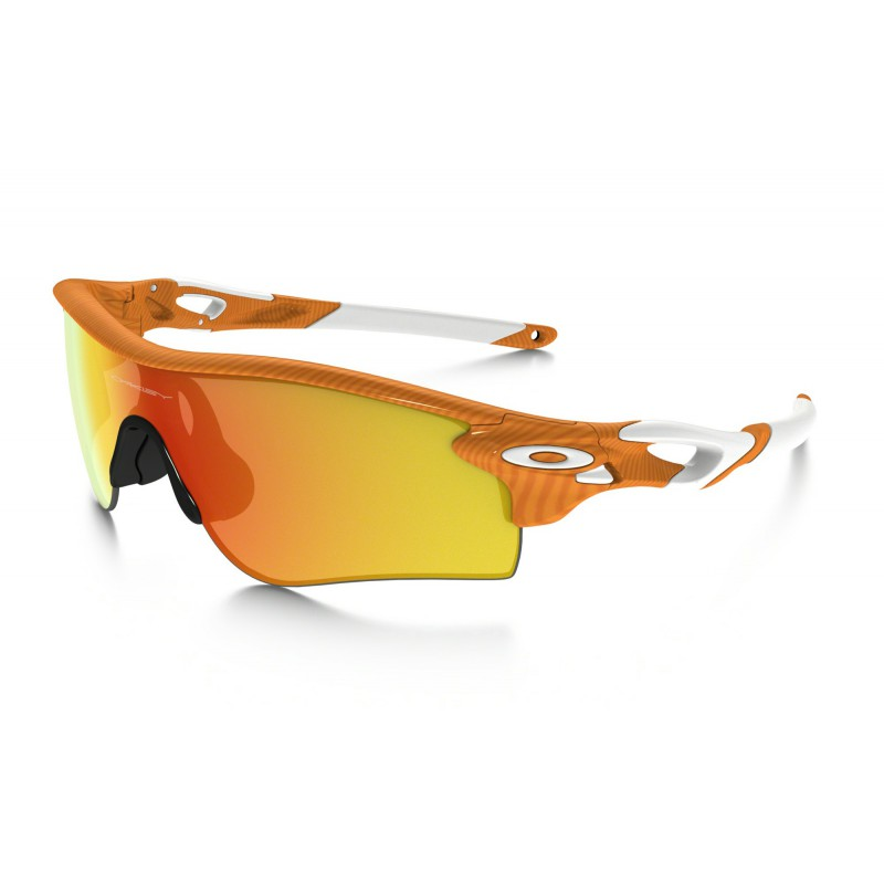 Oakley Radarlock Path Finger Print Orange + Fire Iridium & Black Iridium OO9181-45 Zonnebril