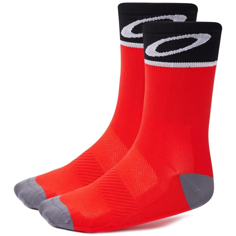 Oakley Cycling Socks Red Line - L