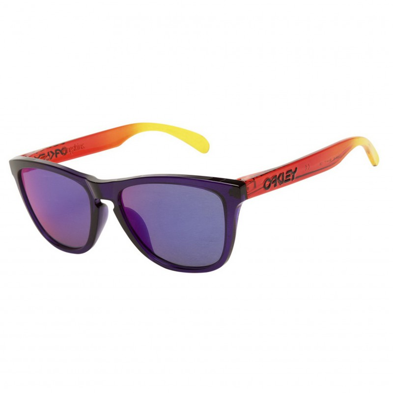 Oakley Frogskins (Asian Fit) Purple + Positive Red Iridium OO9245-16