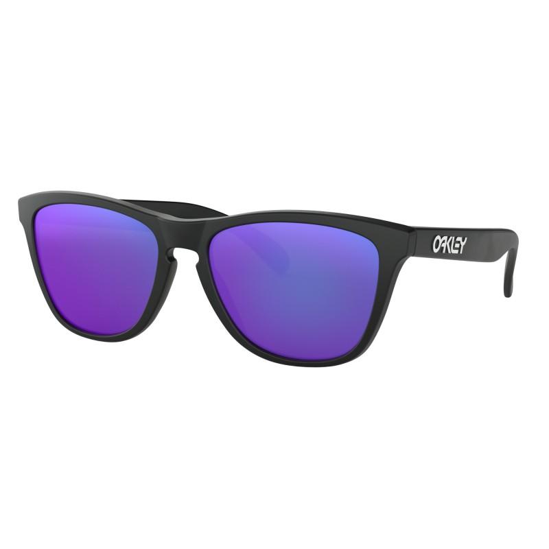 Oakley Frogskins Matte Black + Violet Iridium 24-298