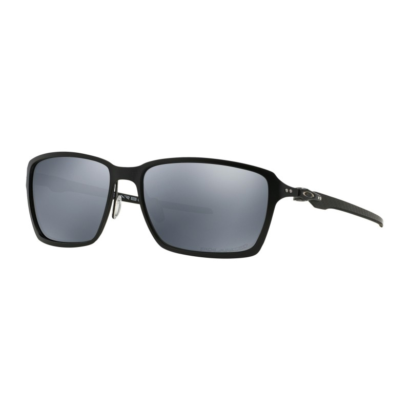 Oakley Tincan Carbon - Satin Black / Black Iridium Polarized - OO6017-02 Zonnebril