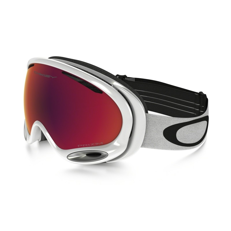 Oakley A Frame 2.0 Polished White + Prizm Snow Torch Iridium OO7044-50 Skibril