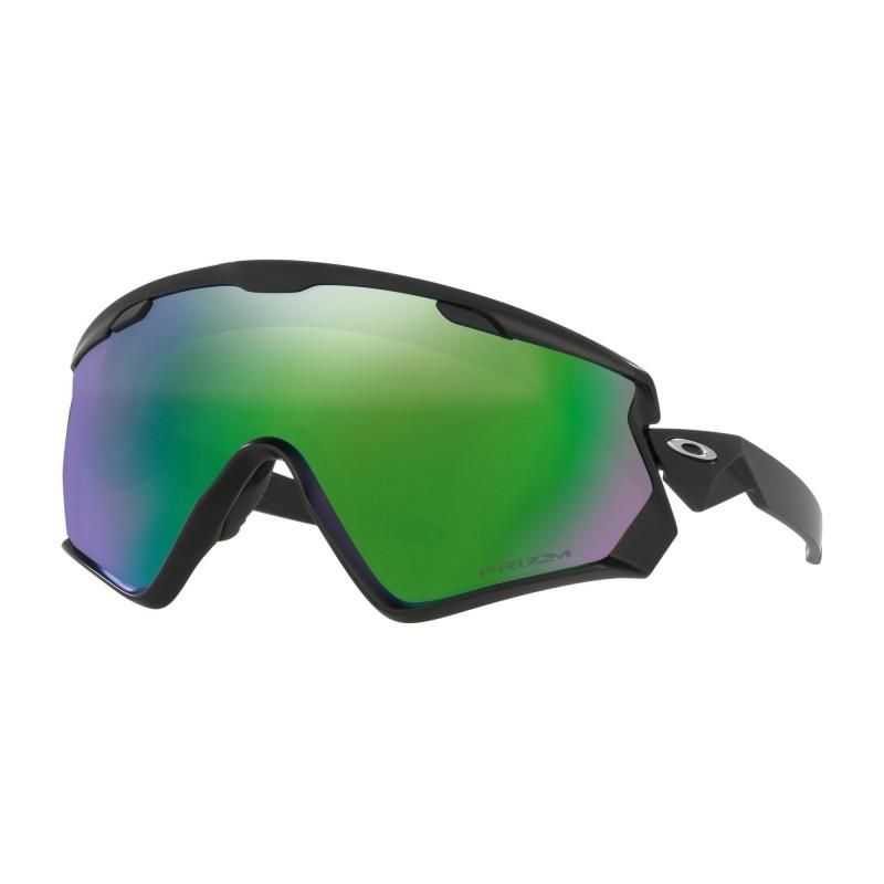 Oakley Wind Jacket 2.0 - Matte Black / Prizm Snow Jade Iridium - OO7072-01 Skibril