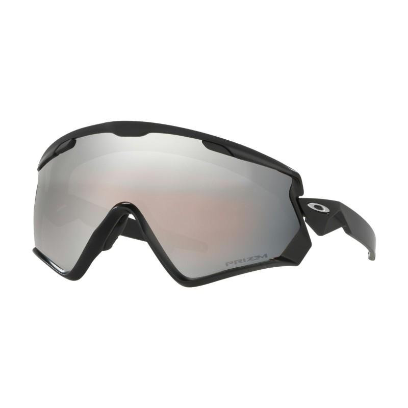 Oakley Wind Jacket 2.0 - Matte Black / Prizm Snow Black Iridium - OO7072-02 Skibril