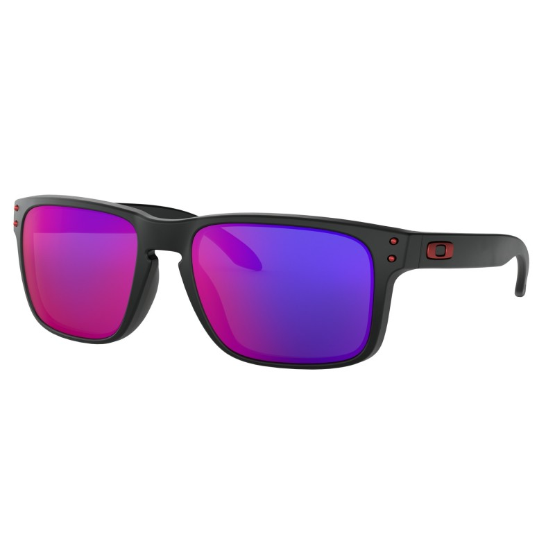 Oakley Holbrook Matte Black + +Red Iridium OO9102-36