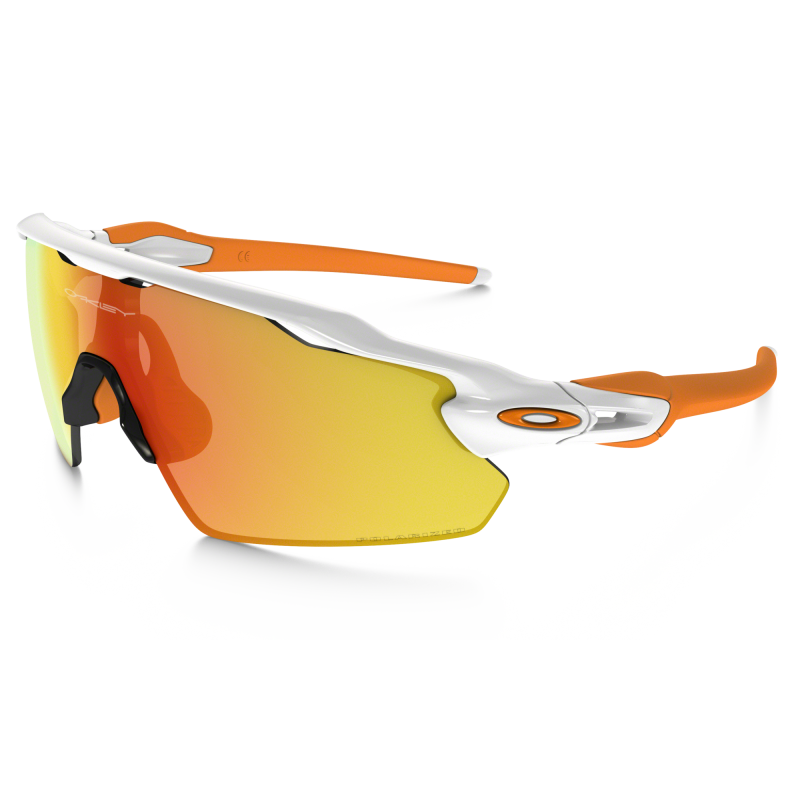 Oakley Radar EV Pitch Zonnebril - Polished White / Fire Iridium Polarized