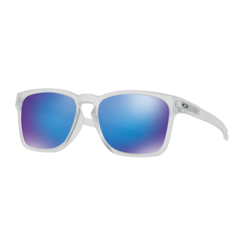 Oakley Latch Sq (Asian Fit) Matte Clear / Sapphire Iridium - OO9358-04 Zonnebril