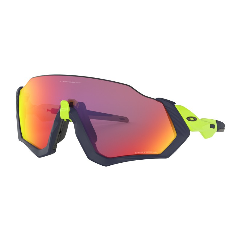 Oakley Flight Jacket Matte Navy/Retina Burn / Prizm Road - OO9401-0537