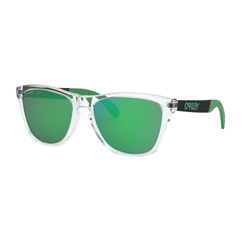 Oakley Frogskins Mix Polished Clear / Prizm Jade Iridium - OO9428-0455