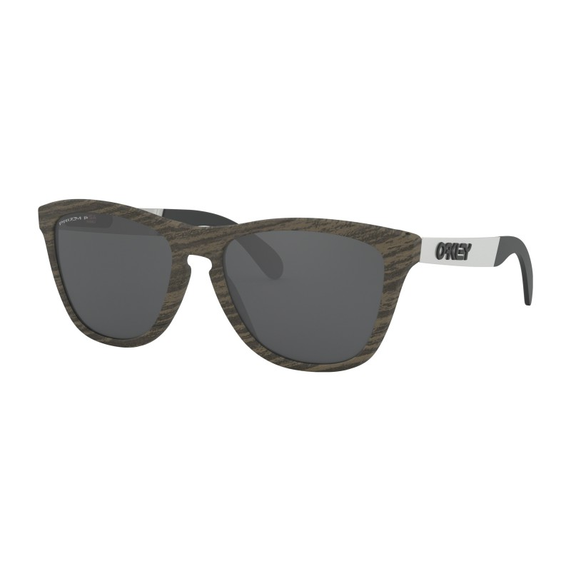 Oakley Frogskins Mix Woodgrain + Prizm Black Polarized - OO9428-0755