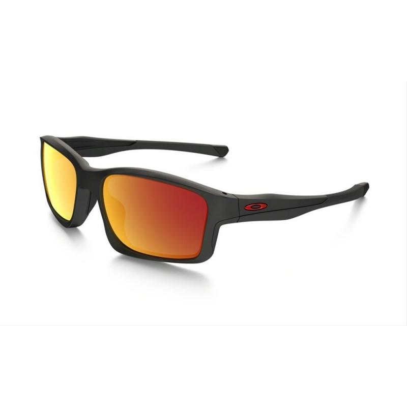 Oakley Chainlink (Asian Fit) Matte Black / Ruby Iridium - OO9252-09 Zonnebril