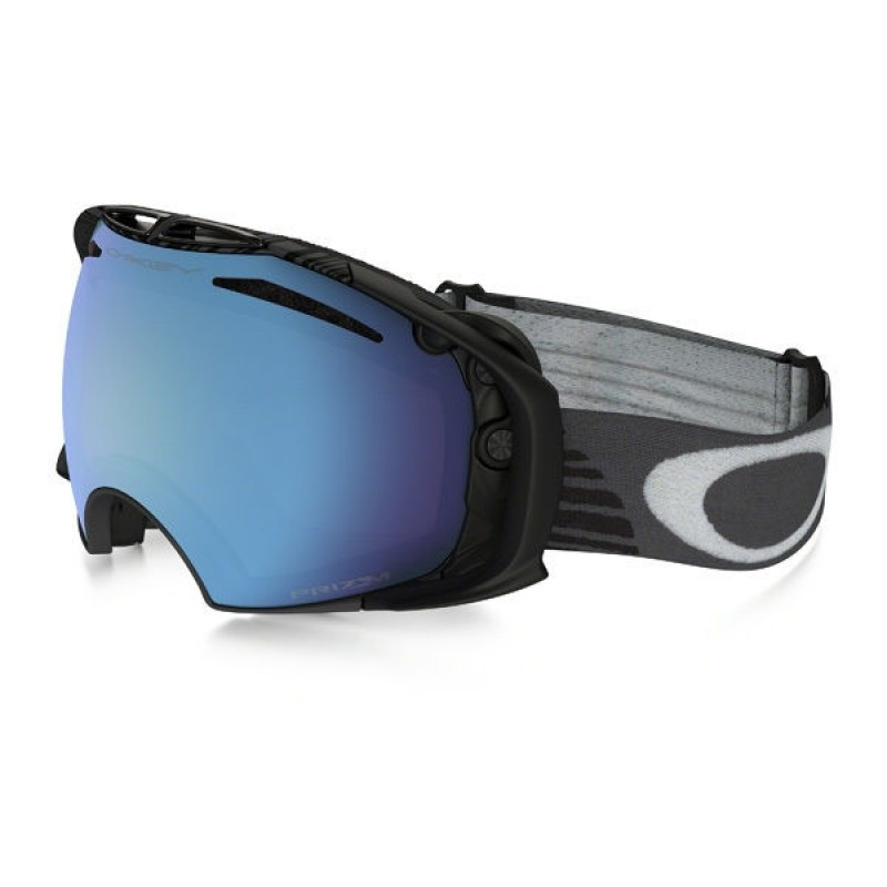Oakley Airbrake Shaun White Signature Series Echelon Iron (Asian Fit) / Prizm Snow Sapphire Iridium & Dark Grey - OO7073-12 Skibril